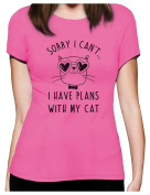 Green Turtle T-Shirts Sorry I Can't I Have Plans With My Cat Women T-Shirt
