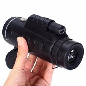 Tutoy Universal 40X60 Travel Portable HD Dual Focus Optical Prism Monocular Telescope with Tripod