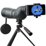 Tutoy PRONITE 15-45X60S HD Bird Watching Spotting Scope Monocular Telescope Tripod for Cell Phone