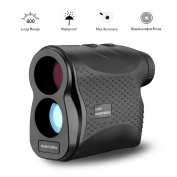 KOBWA Outdoor Compact 6X24 600m Laser Range Finder Golf Rangefinder Hunting Monocular Telescope Distance Metre Speed Tester for Rugby Tennis Golf