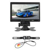 170¡ã Auto Licence Plate Frame Backup Rear View Camera+ 18cm HD Monitor Kit
