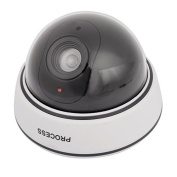 DealMux Fake Dummy Surveillance CCTV Security Dome Camera w Flashing Red LED Light