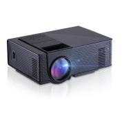 Mini-Beamer LED Portable Video-Projektoren Nucer 1800 Lumen Multimedia Heimkino Projektor unterst¨¹tzt Full HD 1080p Black