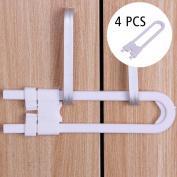 Sliding Child Safety Cabinet Lock, . U Shape Sliding Safety Latch Lock,Baby Proof Knobs, Handles, & Doors