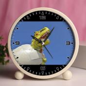 Alarm Clock, Bedroom Tabletop Retro Portable Clocks with Nightlight Custom designs Dinosaurs 506_reptile toy lizard egg hatch dinosaur extinct
