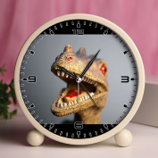 Alarm Clock, Bedroom Tabletop Retro Portable Clocks with Nightlight Custom designs Dinosaurs 511_toy close up tyrannosaurus rex trex dinosaur