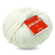 Peru Bulky Wool 200g Coarse Knitting Wool Yarn – White