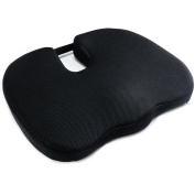 Dreamer Car Coccyx Seat Cushion Chair Pad- Premium Memory Foam Ventilate 3D Mesh Cover - Designed for Hip Pain and Sciatica Relief from Sitting for a Long Time,Black