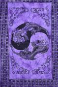 Divya Print 100% Cotton Indian Wall Decor Hippie Tapestries Bohemian Mandala Tapestry Wall Hanging Throw Twin Purple