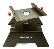 Integy RC Model Hop-ups OBM-1712BLACK Alloy Car Stand Workstation for Axial 1/10 SCX-10, RR10 Bomber & Wraith