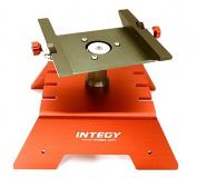 Integy RC Model Hop-ups OBM-1712RED Alloy Car Stand Workstation for Axial 1/10 SCX-10, RR10 Bomber & Wraith