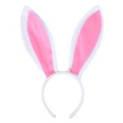 LUOEM Bunny Ear Headband Fluffy Plush Rabbit Ear Hair Hoop Headpiece for Easter Costume Party