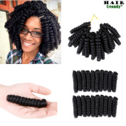 Creamily 20inch Black Curly Braiding Afro Synthetic Hair Extensions Short Curly Twist Crochet Braids for Black Woman