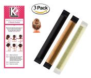 Women's Hair Bun Maker French Twist Hair Fold Wrap Snap by K-Beauty