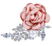 Cheerlife Rose Corsage Pearl Flower Corsage Brooch Clothing Accessories