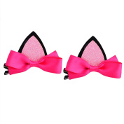 Profusion Circle 2pcs Baby Girls Lovely Cat Ears Hairpin Hair Clip Barrette Hair Accessories