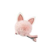 Profusion Circle Baby Girls Lovely Rabbit Cat Ears Pom Pom Ball Hair Clip Hairpin
