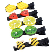 BIGBOBA 5PCS Lovely Candy Fruit Hair Clip Claw Clamps Watermelon Orange Bee Banana Peach Hairpin Headdress Jewellery Hair Styling Accessories Hair Decoration For Little Girls Kids