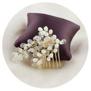 THK-Wedding Bridal Hairpiece Bridal Hair accessories Pearl Wedding Hair Vine Flowers Leaves Headband Bridesmaids Hair Crystals Bridal Hair Clip Comb