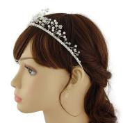 THK-Wedding Bridal Hairpiece Bridal Hair accessories Pearl Wedding Hair Vine Flowers Leaves Headband Bridesmaids Hair Crystals Rhinestone Crown Tiara