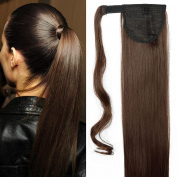 70cm Ponytail Clip in Hair Extensions Straight Hairpiece Pony Tail Wrap Around Long Soft for Women Beauty