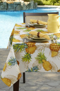 Tropical Pineapple Indoor/Outdoor Spillproof Tablecloth