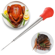 Meat Cooking Baster   4-in-1 Turkey, Chicken (Poultry), Pork, Fish Drip Less Kitchen Tool   Marinade Injector, Meat Needle, Pastry Brush & Cleaner   Heat Resistant   Easy Cooking   Enhance Flavour!