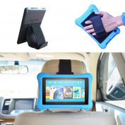 Car Headrest Mount Holder, Hand Strap Holder, Tablet Stand 3-in-1 for all Kindle fire Tablets & Kindle E-Reader - Fire 7 (Previous Generation 1st) & Kindle Fire 7 / HD6 / HD 7 / HD X7 / HD X 8.9 / HD X9 & Fire 7 / HD 7 / HD 8 Kid Edition / Kindle Paper ..