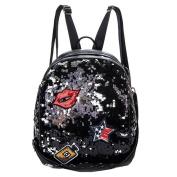 LA HAUTE Fahion Backpacks Glitter Pu Sequin School Bags Travel Shoulder Bags Casual Daypacks