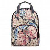 Cath Kidston Graphite Grey Rhododendron Multi Pocket Backpack
