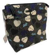 Radley London Hearts Black Oilskin Medium Zip-Top Backpack Handbag