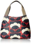 Orla Kiely Womens Classic Zip Shoulder Bag Messenger Bag Red