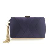 Flada Women and Ladies Satin Evening bags Wedding Clutches Handbags with Tassel Pendant Purple