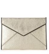 Rebecca Minkoff Leo gold leather pochette