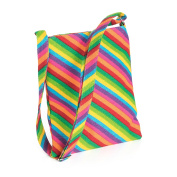 RAINBOW STRIPED PRINT CROSS BODY SHOULDER BAG AB31799