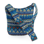 BOHO ETHNIC TRIBAL BLUE MULTI COLOUR CROSS BODY SHOULDER BAG AB31245