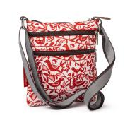 Nicky James Red Doves Print Mini Crossbody Bag