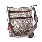 Nicky James Grey Doves Print Mini Crossbody Bag