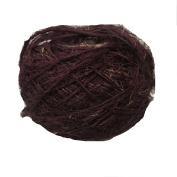 Knitsilk Recycled Sari Silk Yarn - Solid Colour Coffee Brown