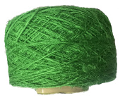 Knitsilk Recycled Sari Silk Yarn - Solid Colour Parrot Green