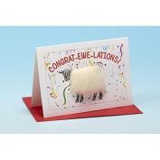 Vanessa Bee Congrat Ewe Lations Greeting Card