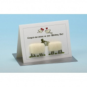 Vanessa Bee Congrat Ewe Lations on your Wedding Day Greeting Card