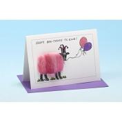 Vanessa Bee Happy Birthday Two Ewe Balloons Greeting Card