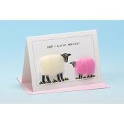 Vanessa Bee Baby Ewe've Arrived Greeting Card Pink