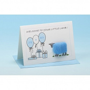 Vanessa Bee Welcome To Your Little Lamb Greeting Card Blue