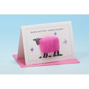 Vanessa Bee Ewes Not Fat Ewes Fluffy Greeting Card