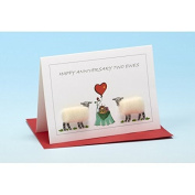 Vanessa Bee Happy Anniversary Two Ewes Greeting Card