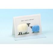 Vanessa Bee Baby Ewe've Arrived Greeting Card Blue