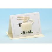 Vanessa Bee Knitting Greeting Card White
