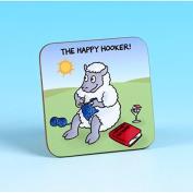 Vanessa Bee The Happy Hooker Crochet Coaster